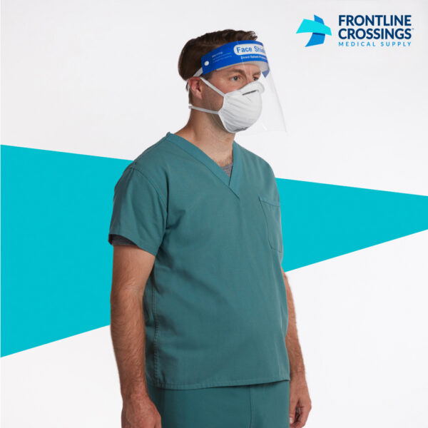 man wearing face shield with mask